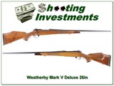 Weatherby Mark V Deluxe 26in beautiful wood!