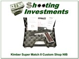 Kimber Super Match Custom Shop 45 ACP as new in case - 1 of 4