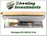 Remington 870 1982 Ducks Unlimited 12 Ga Mag NIC!