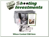Wilson Combat CQB Compact Armor Tuff 9mm as new!