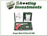 Ruger Mark III Hunter 4.5in RARE Red grips NIB!