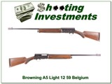 Browning A5 Light 12 59 Belgium Exc Cond