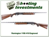 Remington 1100 engraved 410 bore 25in Modified Vent Rib