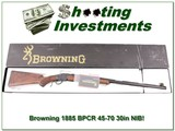 Browning 1885 45-70 BPCR 30in, case colored NIB