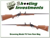 Browning Model 78 7mm Rem Octagonal Barrel like new