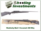 Weatherby Accumark 300 Wthy with accubreak in box