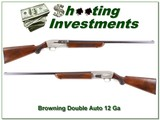 Browning Double Auto First Year 55 Belgium 12 Ga
