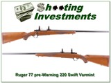Ruger 77 Pre-Warning Red Pad 220 Swift Varmint!