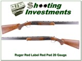 Ruger Red Label 20 Gauge Exc Cond Red Pad!