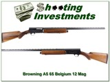 Browning A5 Magnum 12 Ga 65 Belgium 32in VR