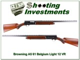 Browning A5 Light 12 61 Belgium 28in VR Mod