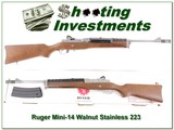 Ruger Mini-14 223 Stainless Walnut unfired in box