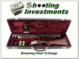 Browning Citori 425 12 Ga 28in ported Exc Cond in case