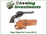 Ruger Single Six 3 screw 5.5 in 22