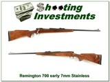 Remington 700 ADL early pressed checkering Stainless 7mm
