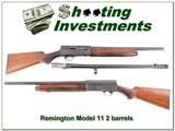 Remington Model 11 12 Ga Riot gun 2 barrels