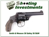 Smith & Wesson Safety Hammerless 38 S&W Revolver