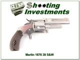 Marlin 1878 revolver in 38 S&W