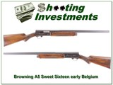 Browning A5 Sweet Sixteen 49 Belgium 26in Solid