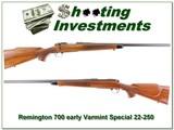 Remington 700 early Varmint Special metal butt 22-250