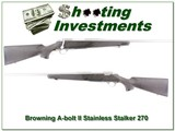 Browning A-bolt Stainless Stalker 270 Win Exc Cond!