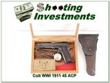 Colt 1911 WWI made in 1918 with accessories