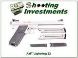 AMT Lightning Stainless 6.5in Target 22LR 3 magazine!
