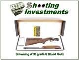 Browning 22 Auto Grade 6 VI Blued with gold NIB