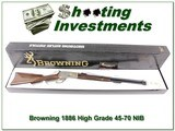 Browning 1886 Hi-Grade 45-70 Carbine Unfired in box!