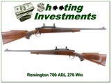 Remington 700 ADL 270 Winchester
