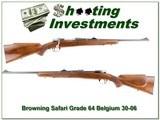 Browning Safari Grade 64 Belgium 30-06