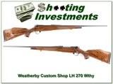 Weatherby Mark V Custom Shop LH Wthy Mag