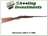 Winchester 1885 Rare Traditional Hunter 17 HMR!