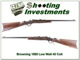 Browning 1885 Traditional Hunter Low Wall 45 COLT! - 1 of 4