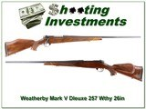 Weatherby Mark V Deluxe 257 Wthy 26in