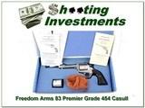 Freedom Arms Model 83 Premier Grade 454 Casull 45 Colt