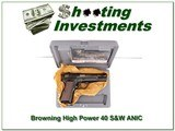 Browning Hi-Power High Power 40 S&W NIC!