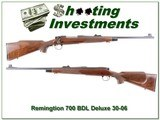 Remington 700 BDL engraved 30-06 Exc Cond!