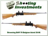 Browning BAR Grade 1 1970 Belgium 30-06 honey blond