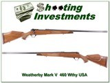 Weatherby Mark V Custom Shop 460 USA made