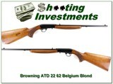 Browning 22 Auto 62 Belgium Blond Exc Cond