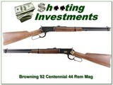 Browning Model 92 Centennial 44 rem mag unfired