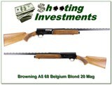 Browning A5 68 Belgium 20 magnum unfired as new!