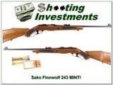 Sako VL63 Finnwolf 243 Win MINT likely unfired!