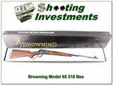 Browning Model 65 218 Bee looks unfired in box!