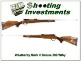 Weatherby Mark V Deluxe custom 300 Wthy Mag