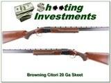 Browning Citori 20 Gauge 26in Skeet & Skeet
