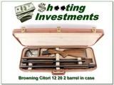 Browning Citori 12 & 20 Ga 2 barrel set in case