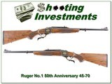 Ruger No.1 45-70 50 Years unfired XX Wood