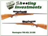 Remington 700 ADL 22-250 pressed checkering with scope